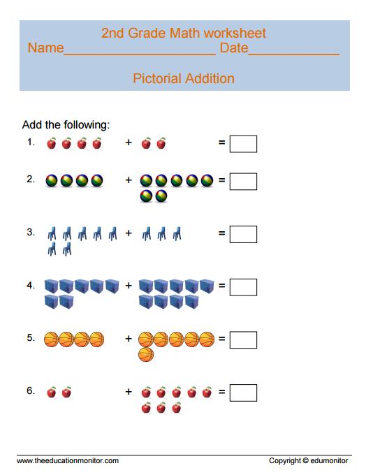 2nd Grade Math Worksheets amp printables
