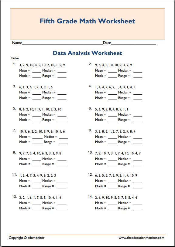 Mean Median And Mode Worksheets Deployday – Median Mode Range Worksheet