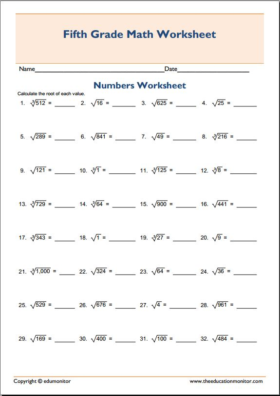 Square and cube roots worksheet Archives - EduMonitor