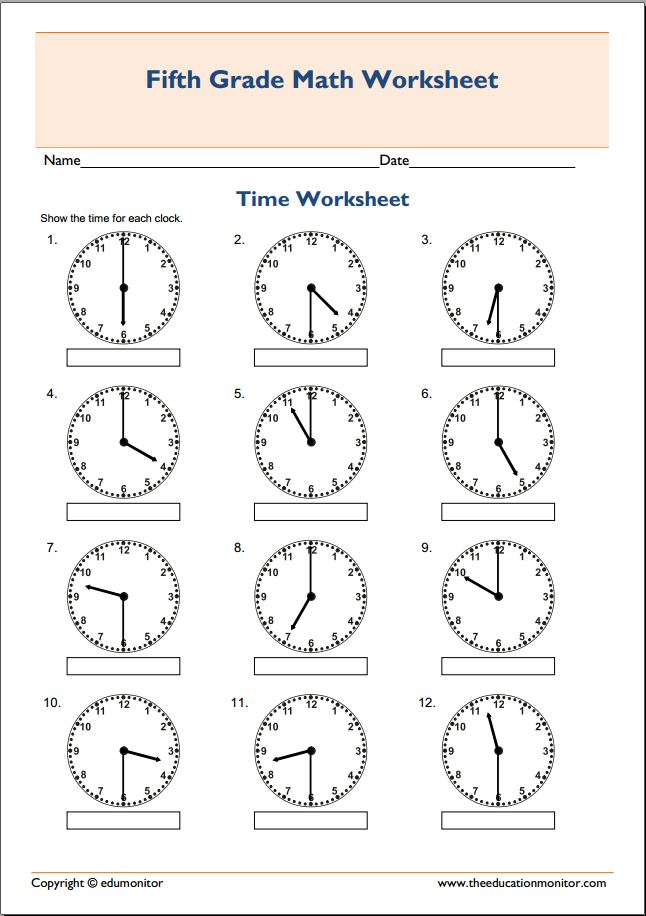 free printable telling time worksheets Archives EduMonitor – Telling Time Worksheets Free