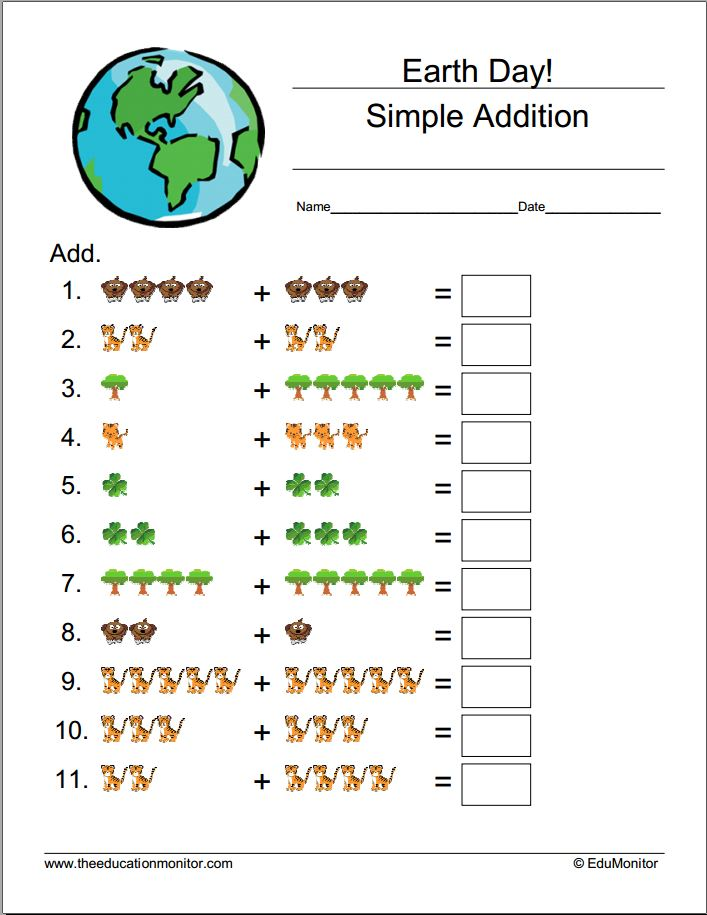 free printable worksheets for 1st 2nd 3rd 4th   5th grade math Earth Day Worksheets & Printables Earth Day Printable Worksheets