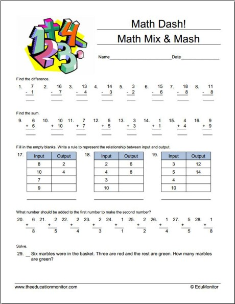 20. Math Mix & Mash 1