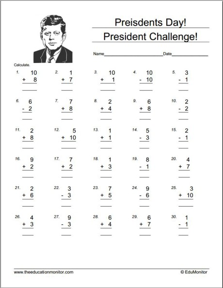 Presidents Day Free Printables
