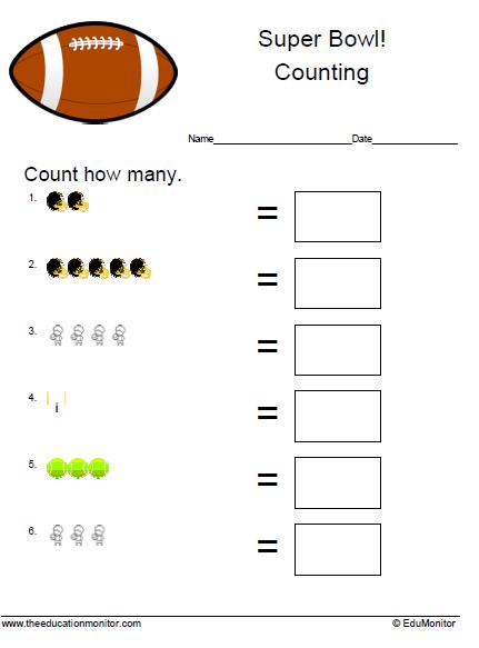 Kindergarten Common Core Math Printable Worksheets