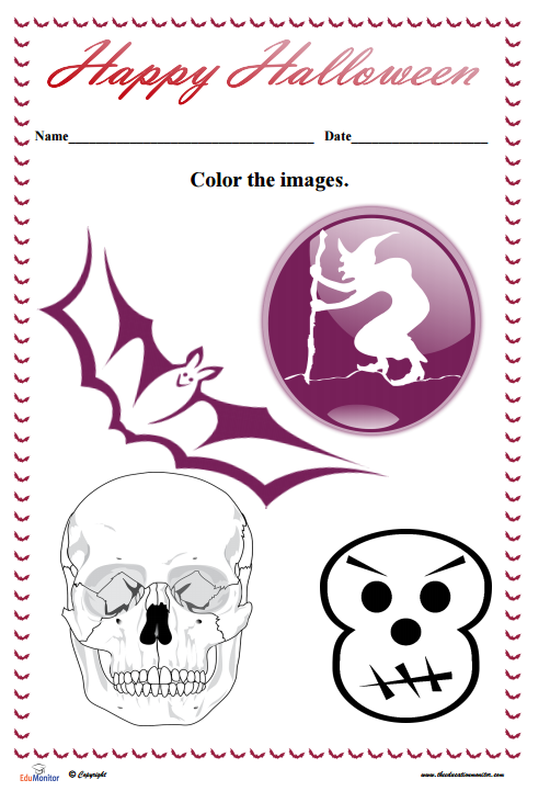 Free Halloween Coloring Pages Pdf Edumonitor