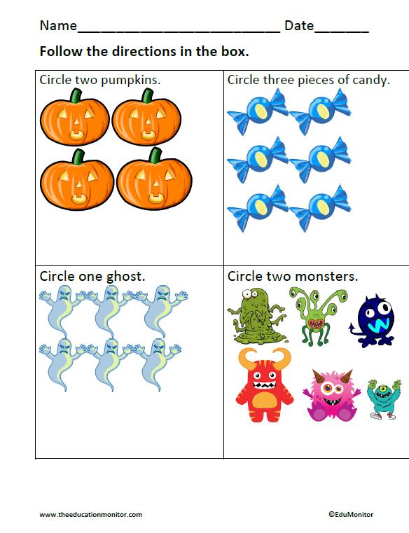 Number Names Worksheets kindergarten halloween math worksheets – Halloween Math Worksheets Kindergarten