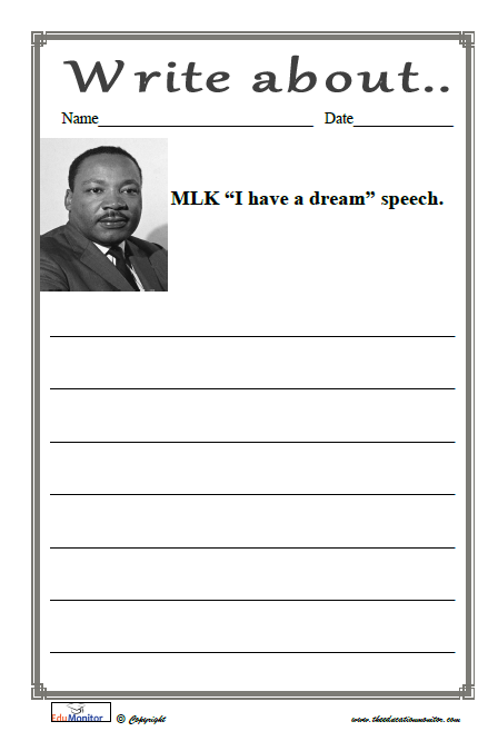 Martin Luther King Worksheets Printables Edumonitor