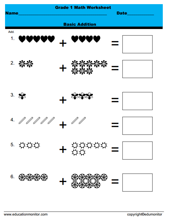 free printable first grade Archives EduMonitor – Free Printable First Grade Math Worksheets