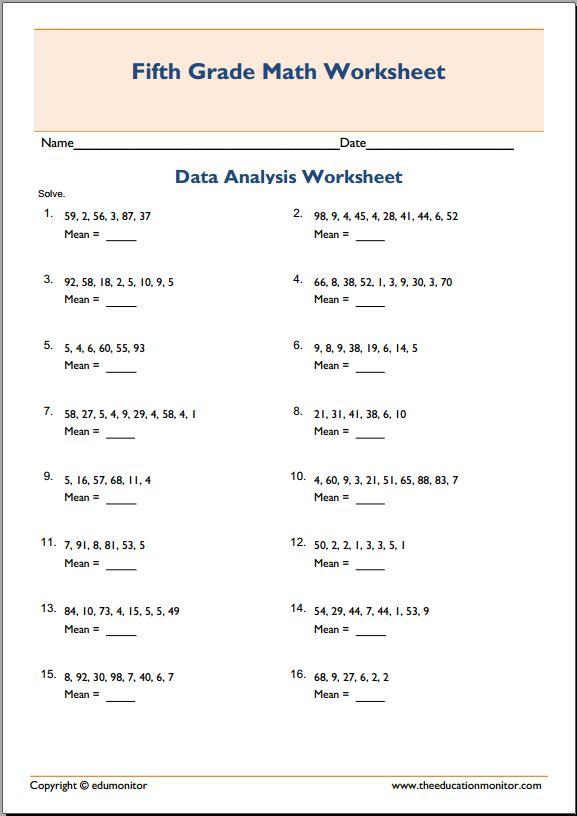 All Worksheets Finding The Mean Worksheets Printable – Average Worksheets