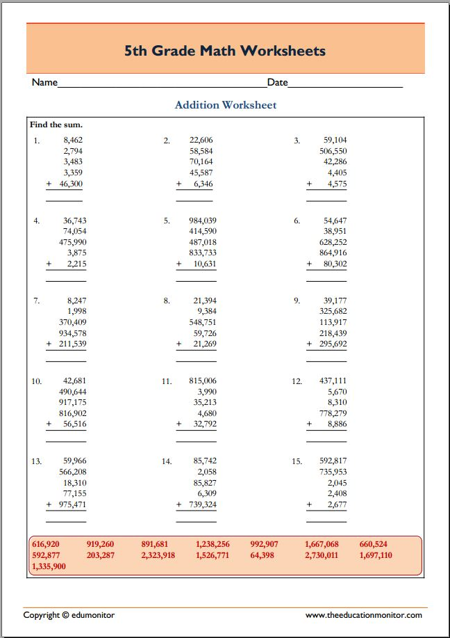 Cool Math Worksheets 5th Grade – Cool Math Worksheets