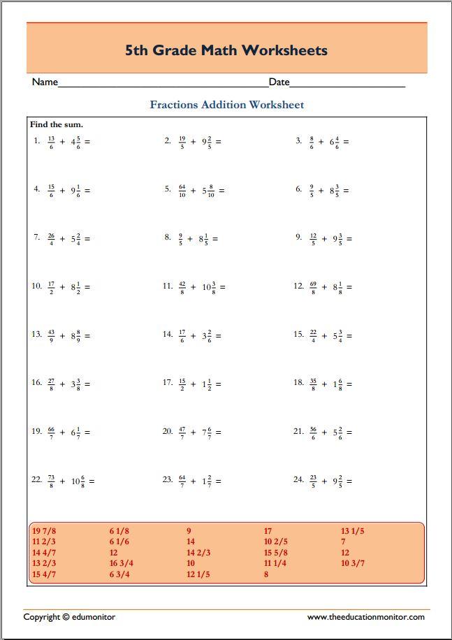 math worksheet : free printable worksheets for 5th grade : Printable Grade 5 Math Worksheets