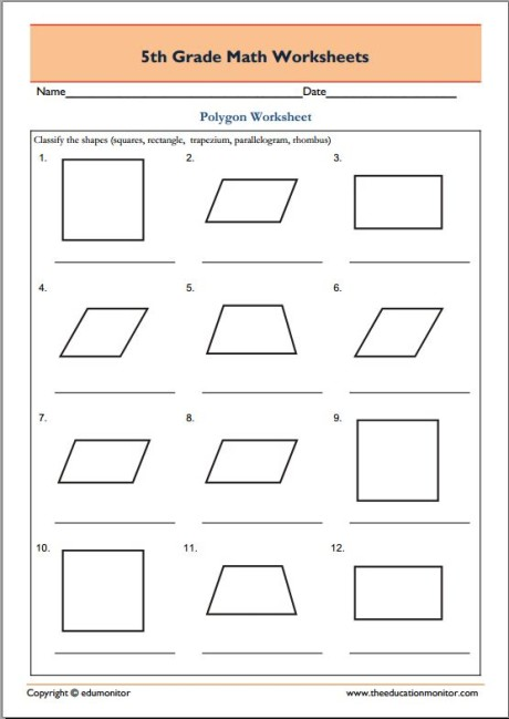 467. 5th Grade Math - Geometry Polygons 7