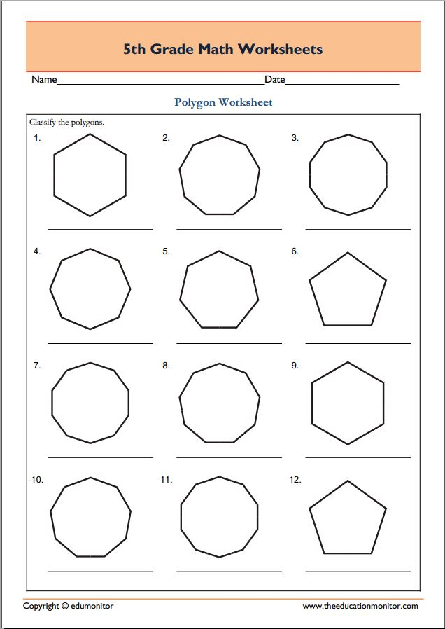 Math homework sheets for 5th grade – Fifth Grade Math Worksheets