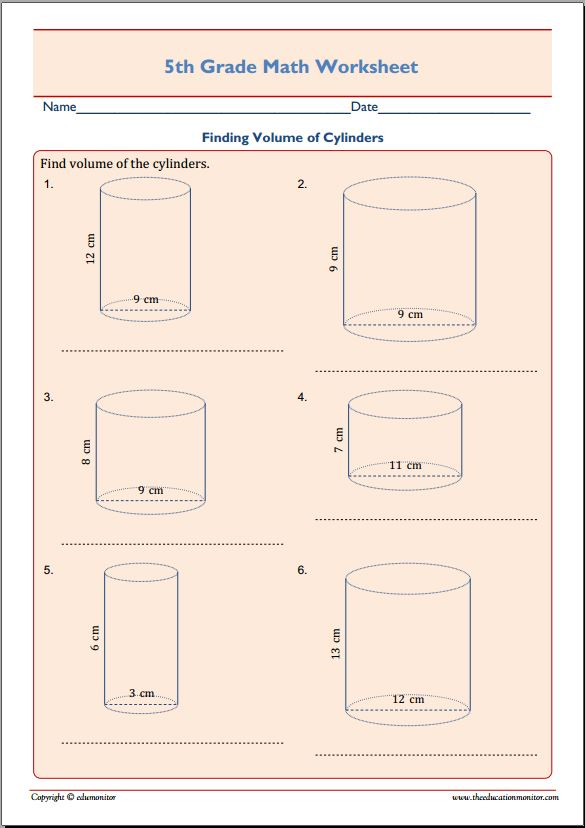 Volume Of Cylinders Worksheet Worksheets for Education – Volume by Water Displacement Worksheet